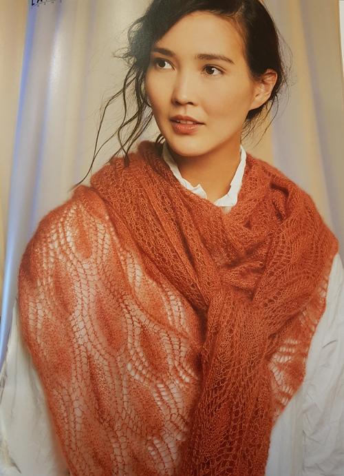 Châle tricoté en Lace