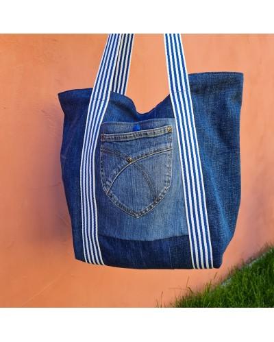 Sac jean recyclé motif hawaien