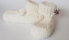 Tuto tricot : je tricote des chaussons pour bébé